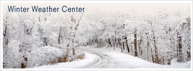 Winter Weather Center Header